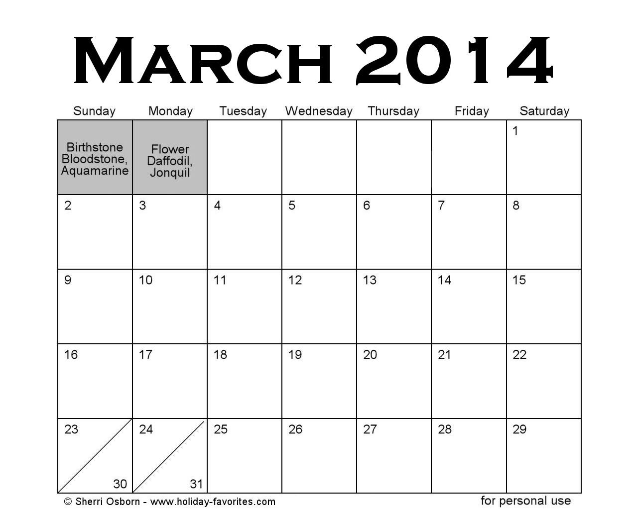 Holidays In March | New Calendar Template Site